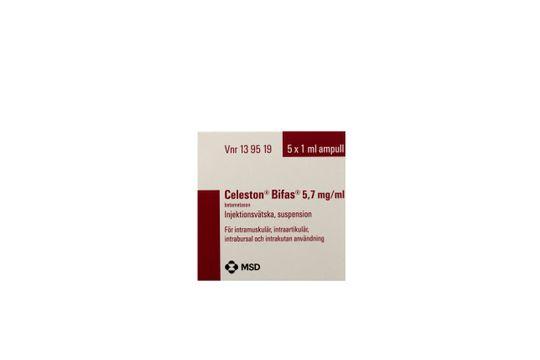Celeston bifas Injektionsvätska, suspension 5,7 mg/ml 5 x 1 milliliter