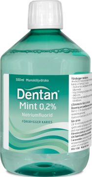 Dentan Mint 0,2 % Natriumfluorid, munsköljvätska, 500 ml