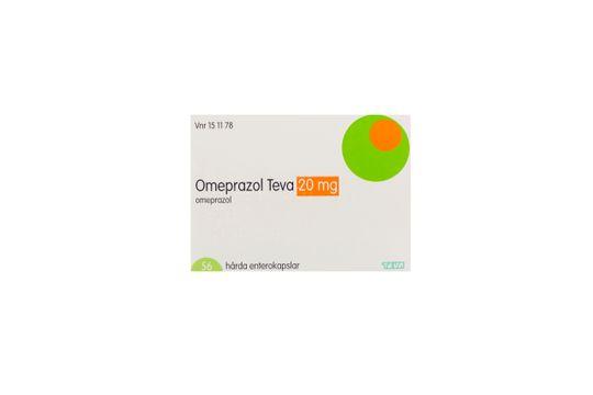 Omeprazol Teva Enterokapsel, hård 20 mg Omeprazol 56 kapsel/kapslar
