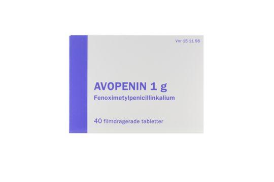 Avopenin Filmdragerad tablett 1 g Fenoximetylpenicillin 40 tablett(er)
