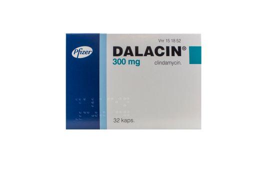 Dalacin Kapsel, hård 300 mg Klindamycin 32 styck