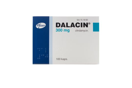 Dalacin Kapsel, hård 300 mg Klindamycin 100 styck