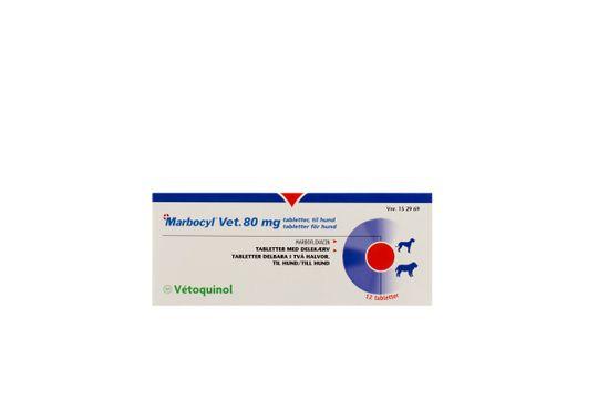 Marbocyl Vet. Tablett 80 mg 12 tablett(er)