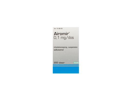 Airomir Inhalationsspray, suspension 0,1 mg/dos 200 dos(er)