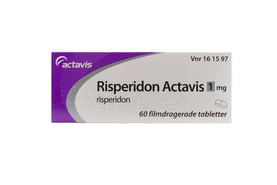 Risperidon Actavis Filmdragerad tablett 1 mg Risperidon 60 styck