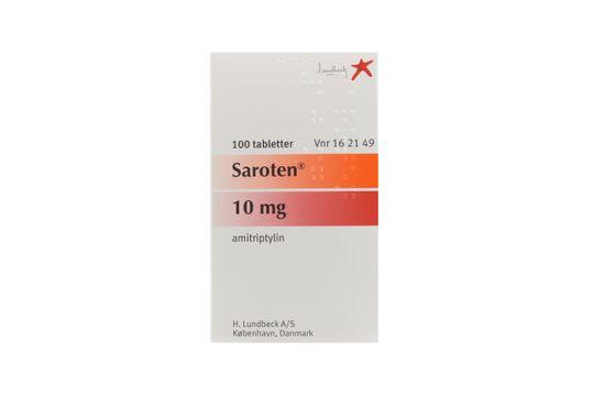 Saroten Filmdragerad tablett 10 mg Amitriptylin 100 styck