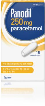 Panodil Suppositorium 250 mg Paracetamol 10 styck