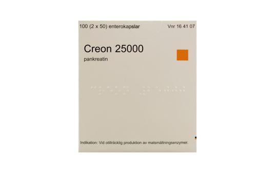 Creon 25000 Enterokapsel, hård Medartuum AB Pankreatin 2 x 50 kapsel/kapslar