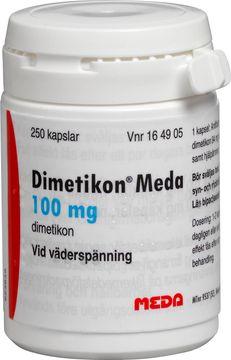 Dimetikon Meda Kapsel, mjuk 100 mg Dimetikon 250 styck