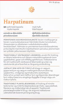 Florealis Harpatinum Vid ledsmärta & matsmältningsbesvär, 90 kapslar