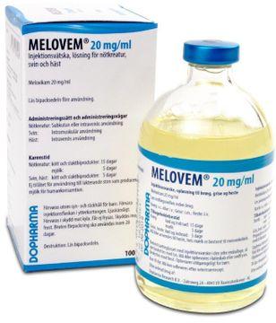Melovem Injektionsvätska, lösning 20 mg/ml 100 milliliter