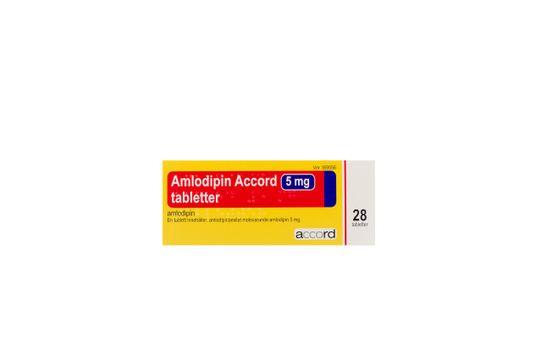 Amlodipin Accord Tablett 5 mg Amlodipin 28 tablett(er)