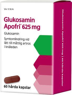 Apofri Glukosamin 625 mg Glukosamin, kapsel, 60 st