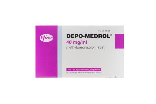 Depo-Medrol Injektionsvätska, suspension 40 mg/ml Metylprednisolon 10 x 1 milliliter