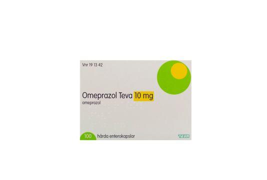 Omeprazol Teva Enterokapsel, hård 10 mg Omeprazol 100 kapsel/kapslar