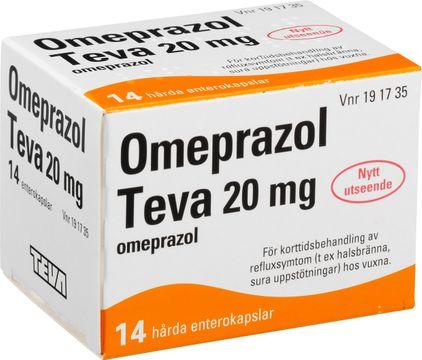 Omeprazol Teva Enterokapsel, hård 20 mg Omeprazol 14 kapsel/kapslar