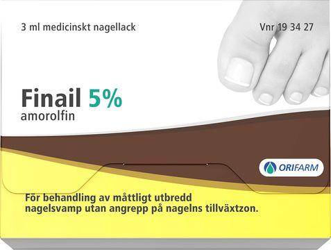 Finail Medicinskt nagellack 5 % Amorolfin 3 milliliter