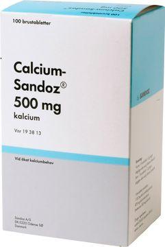 Calcium-Sandoz Brustablett 500 mg 5 x 20 styck