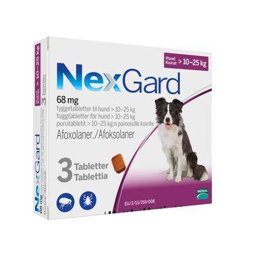 NEXGARD för hund >10-25 kg Tuggtablett 68 mg 3 tablett(er)