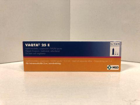 Vaqta Injektionsvätska, suspension, förfylld spruta 25 E 0,5 milliliter