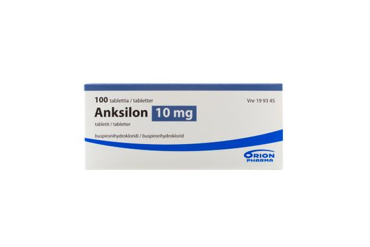 Anksilon Tablett 10 mg Buspiron 100 tablett(er)
