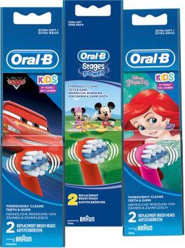 Oral-B Kids Brush Set 3+ år Tandborsthuvuden, 2 st
