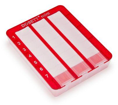 Dosett Mini dispenser röd Dosett, 1 st