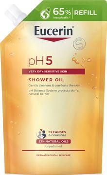 Eucerin pH5 Shower Oil refill Duscholja, oparfymerad, 400 ml