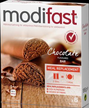 Modifast Low GI bar Choklad Bars, 6x31 g