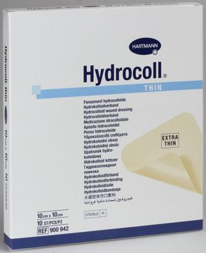 Hydrocoll thin platta (lm-nära), 10x10 cm 10 styck