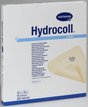 Hydrocoll thin platta (lm-nära), 15x15 cm 10 styck