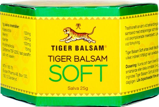 Tiger Balsam Soft 25 g Salva, 1 st