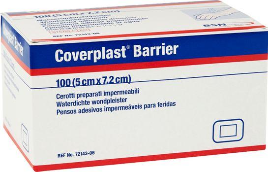 Coverplast Barrier absorptionsbandage med häfta, 7,2 x 5 cm 100 styck