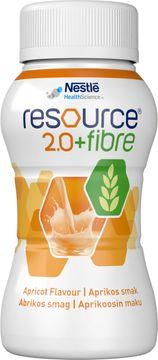Resource 2,0 + fibre drickfärdigt, komplett kosttillägg, aprikos 4 x 200 milliliter