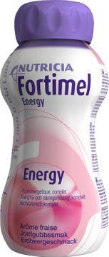 Fortimel Energy drickfärdigt kosttillägg, jordgubb 4 x 200 milliliter