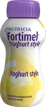 Fortimel Yoghurt Style glutenfri komplett, energirik näring, vanilj-citron 4 x 200 milliliter