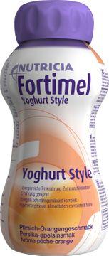 Fortimel Yoghurt Style glutenfri komplett, energirik näring, persika-apelsin 4 x 200 milliliter