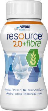 Resource 2,0 + fibre drickfärdigt, komplett kosttillägg, neutral 4 x 200 milliliter