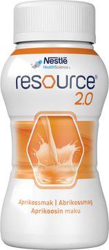 Resource 2,0 drickfärdigt, komplett kosttillägg, aprikos 4 x 200 milliliter