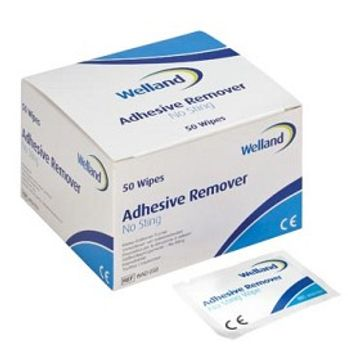 Axotan Welland Adhesive Remover lösningsmedel för häftor No Sting, våtservetter 50 styck
