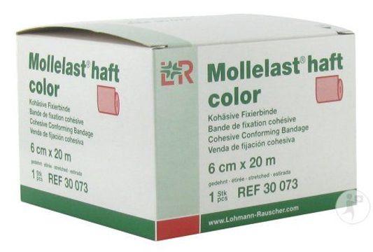 Lohmann Rauscher Mollelast Haft Röd. Självhäftande binda för djur. 6cmx20m. 1 st
