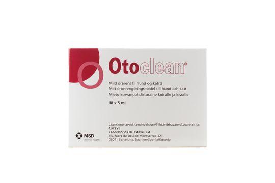 Otoclean Öronrengöring Öronrengöring för djur, 18 x 5 ml