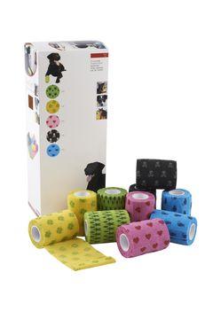 Fun-Flex Elastisk binda storpack Elastisk binda för djur, 7,5 cm, 10 st