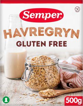 Semper Havregryn Havregryn, glutenfria havregryn 500 gram