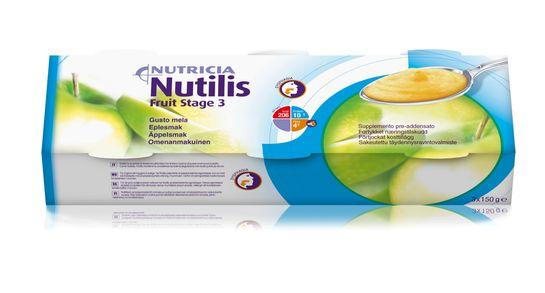 Nutilis Fruit stage 3 komplett kosttillägg, äpple 3 x 150 gram