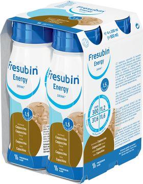 Fresubin energy DRINK drickfärdigt kosttillägg, cappuccino 4 x 200 milliliter
