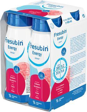 Fresubin energy DRINK drickfärdigt kosttillägg, jordgubb 4 x 200 milliliter