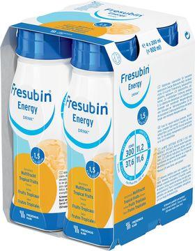 Fresubin energy DRINK drickfärdigt kosttillägg, tropisk 4 x 200 milliliter