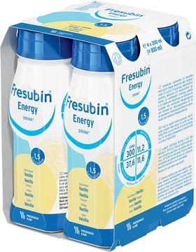 Fresubin energy DRINK drickfärdigt kosttillägg, vanilj 4 x 200 milliliter