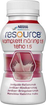 Resource Komplett Näring 1,5 drickfärdigt kosttillägg, hallon/jordgubb 4 x 200 milliliter